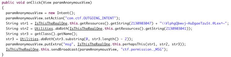 onClick method